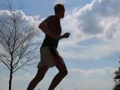 Jogging at Alster river